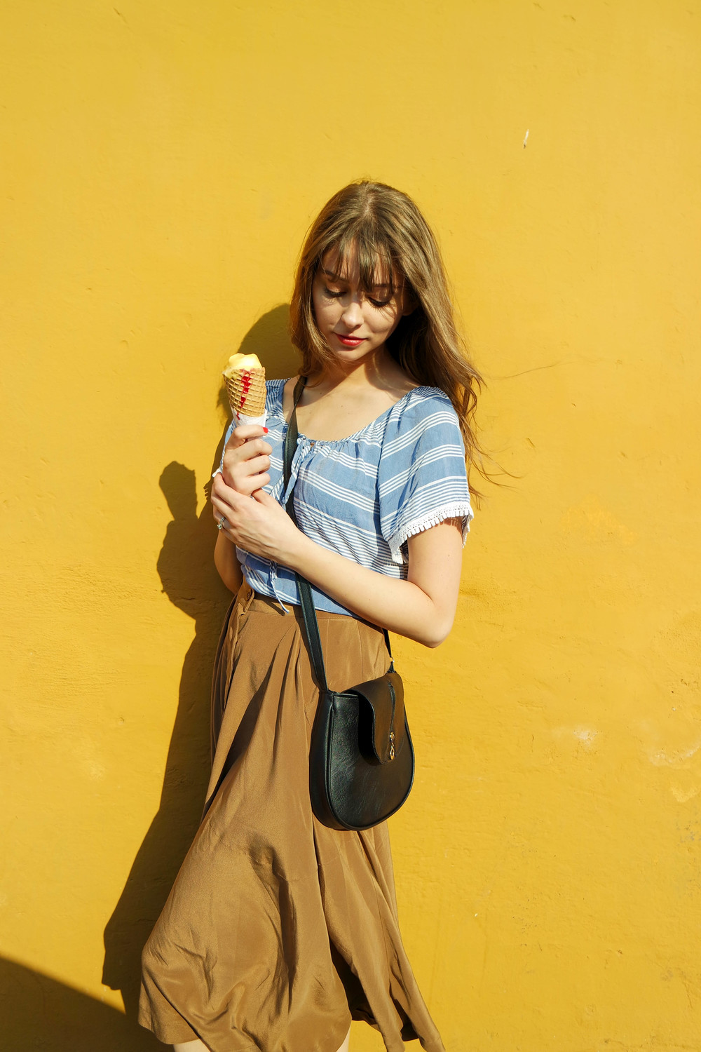When your ice cream matches the wall, you kind of have to take a picture ;)