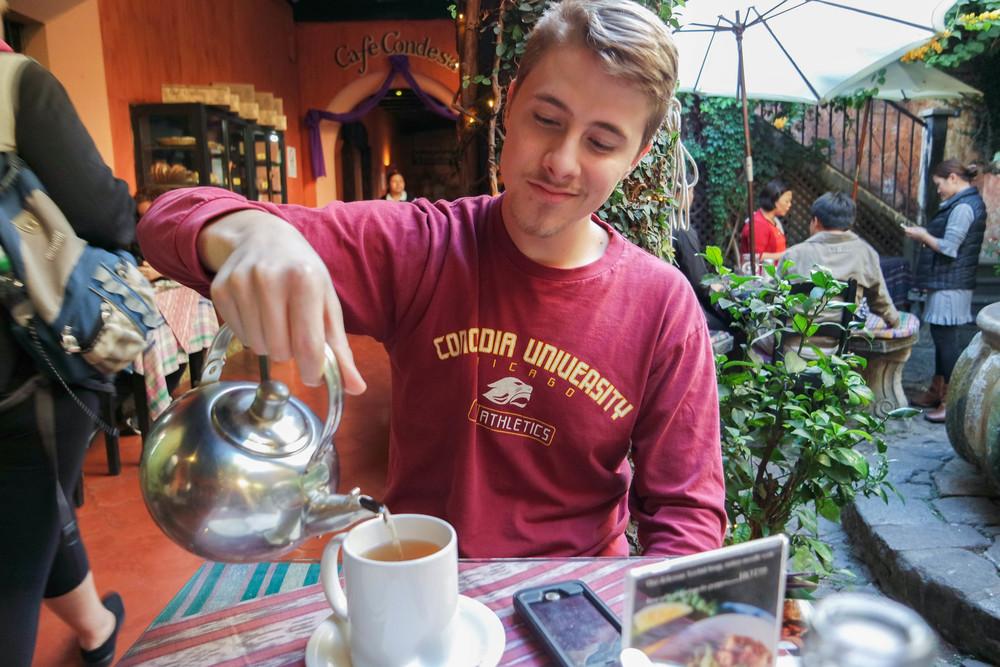 Antigua has the very best tea, coffee and hot chocolate.