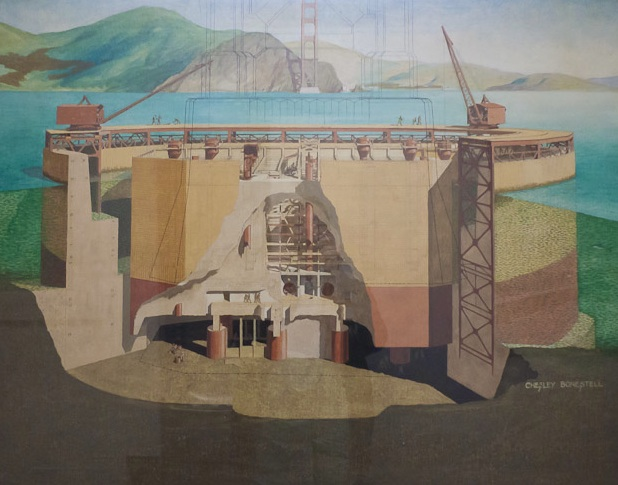 Chesley Bonestell Diagrammatic Study of Pier Caisson and Fender.jpeg