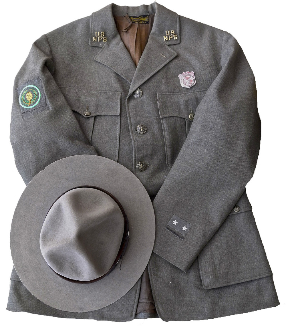 Mid-century National Park Service uniform.