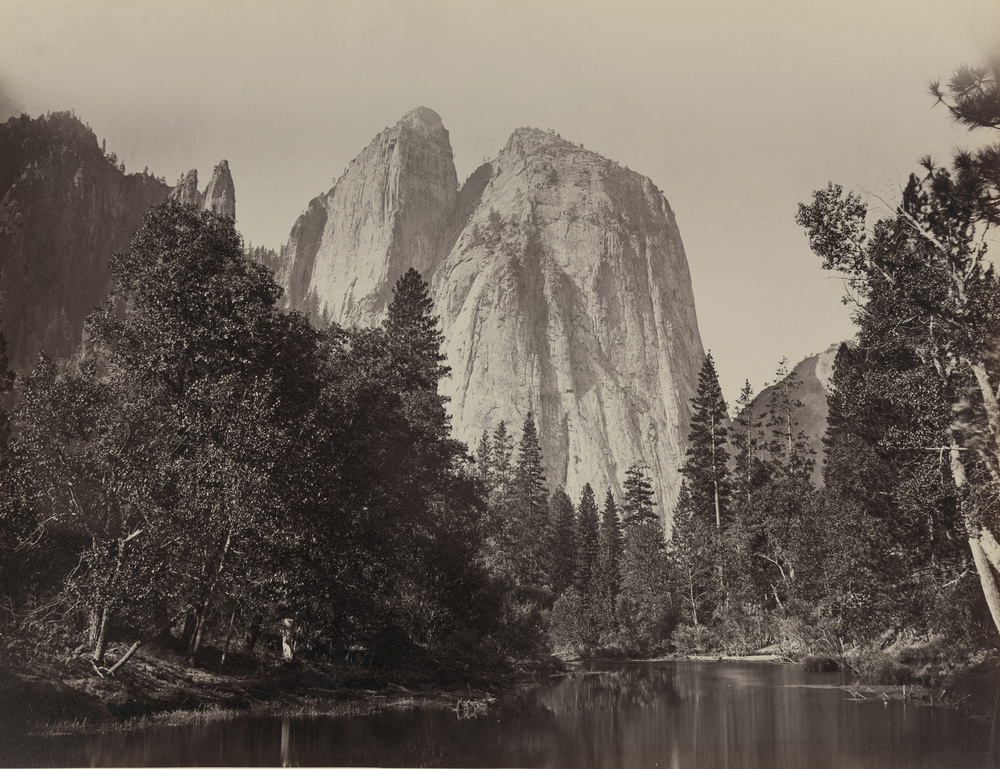 Carleton Watkins, Cathedral Rocks, Yosemite, 1865, courtesy of the Library of Congress.
