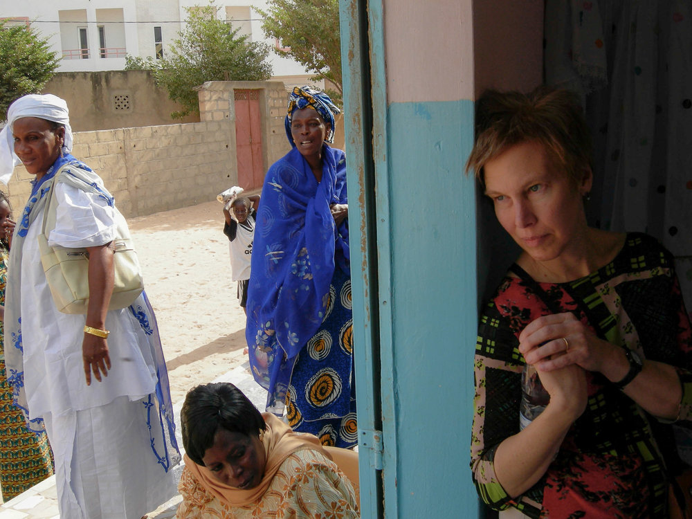 Barbara at Fabric Workshop, Dakar, Senegal, 2005