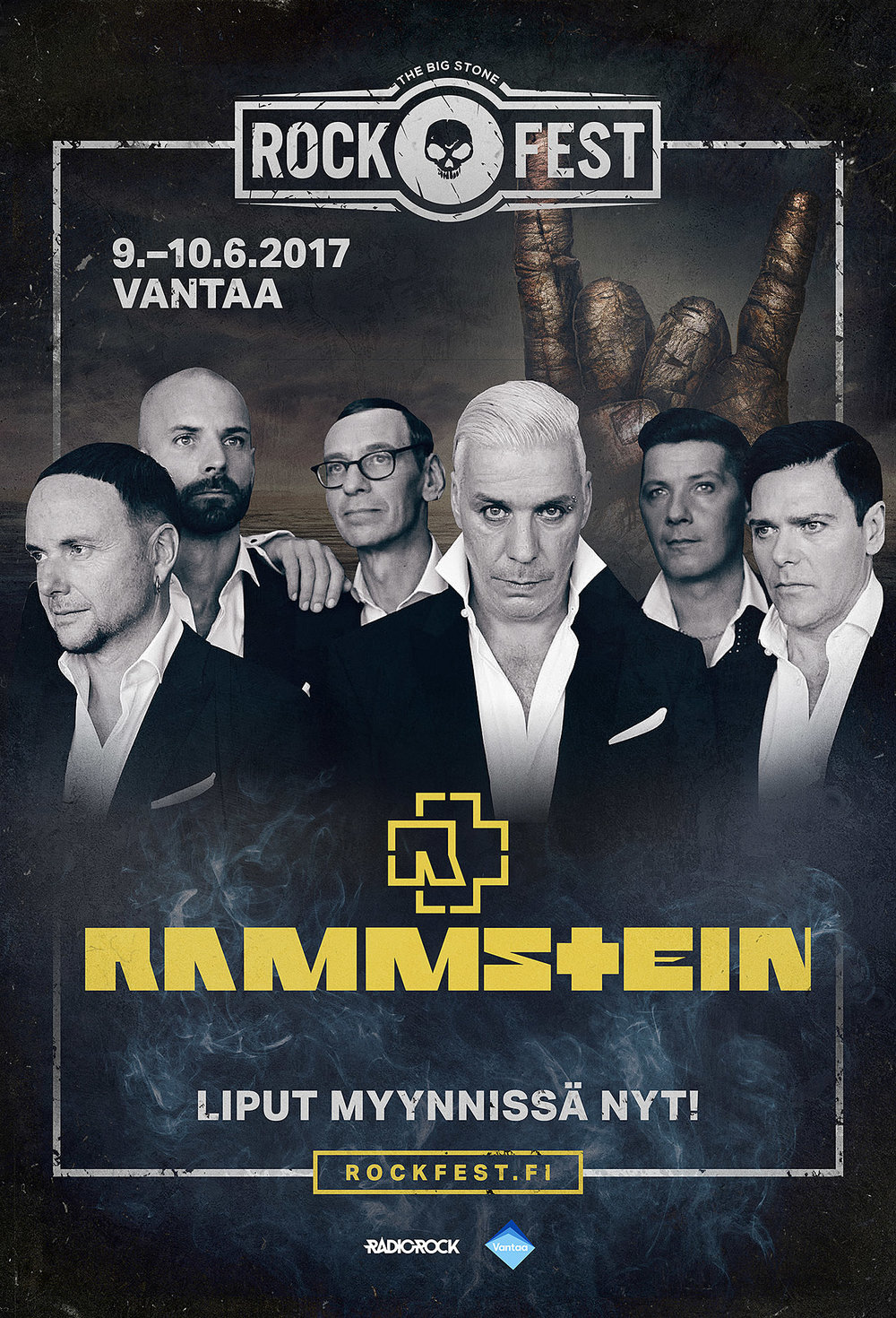 Outdoor campaign, artist poster featuring Rammstein