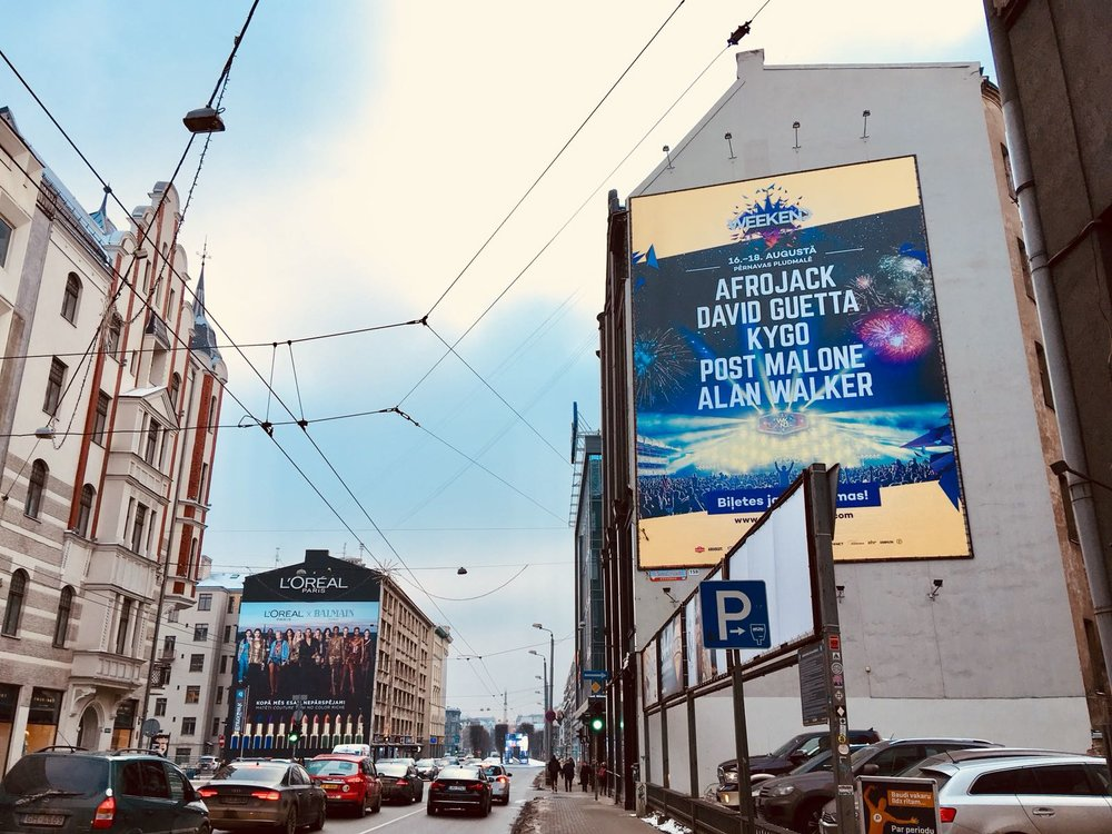 Weekend festival Baltic 2018, outdoor campaign