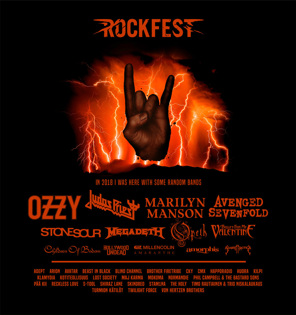 """Lightning"", Rockfest 2018 merchandise artwork"
