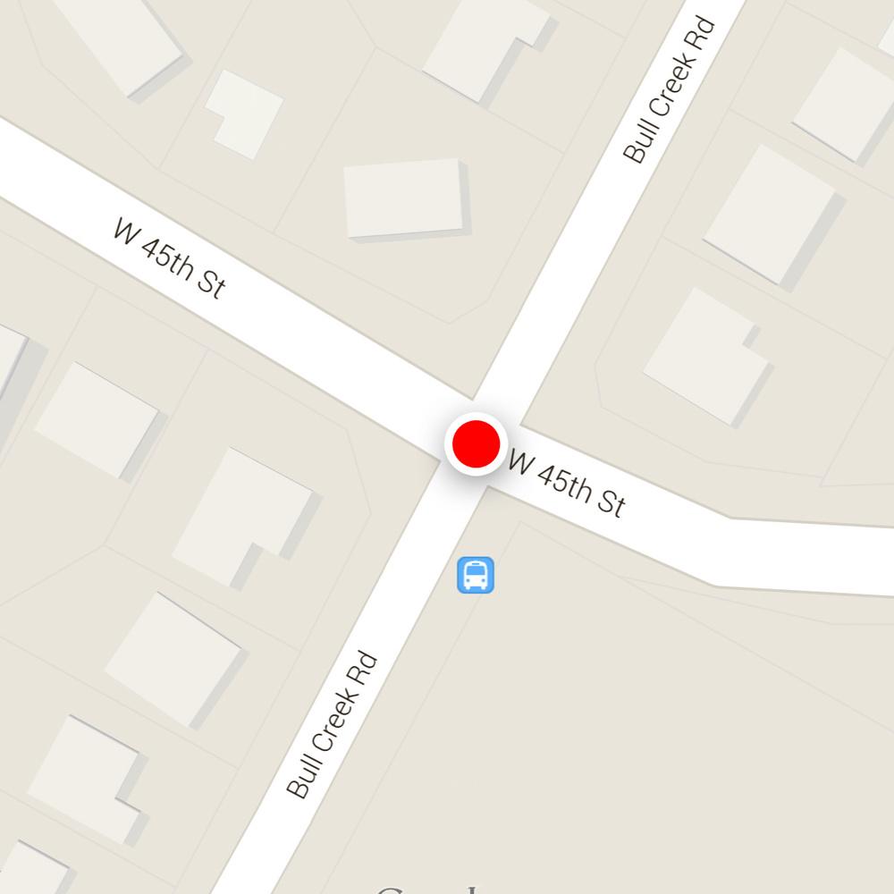 45th/Bull Creek Road intersection