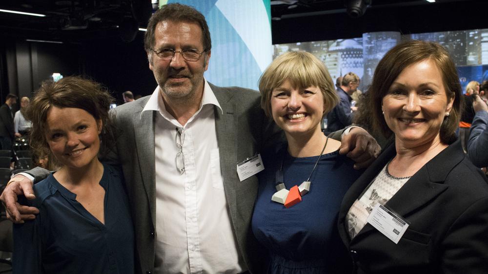 """""""Best in Show"""" -  Fornøyd team fra Difi & Mediafarm"""