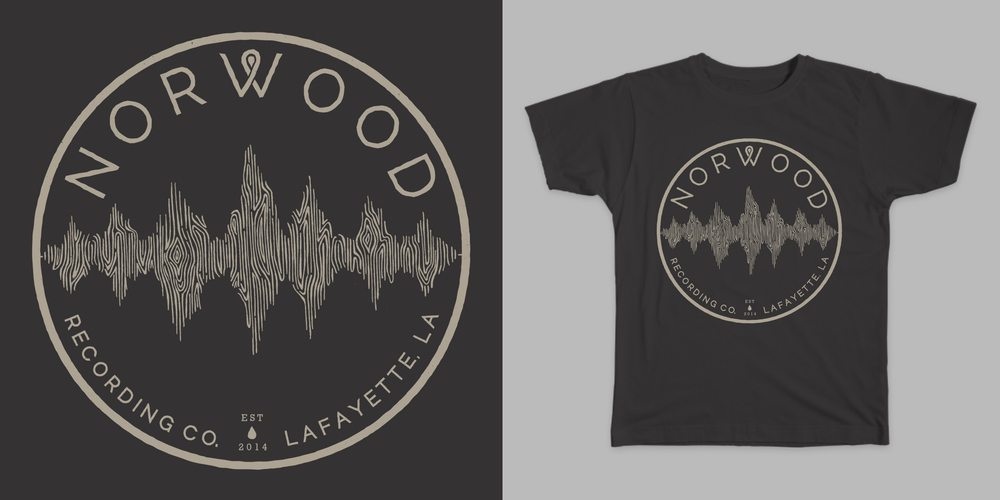 T-shirt mock up for Norwood Recording Co. 2015