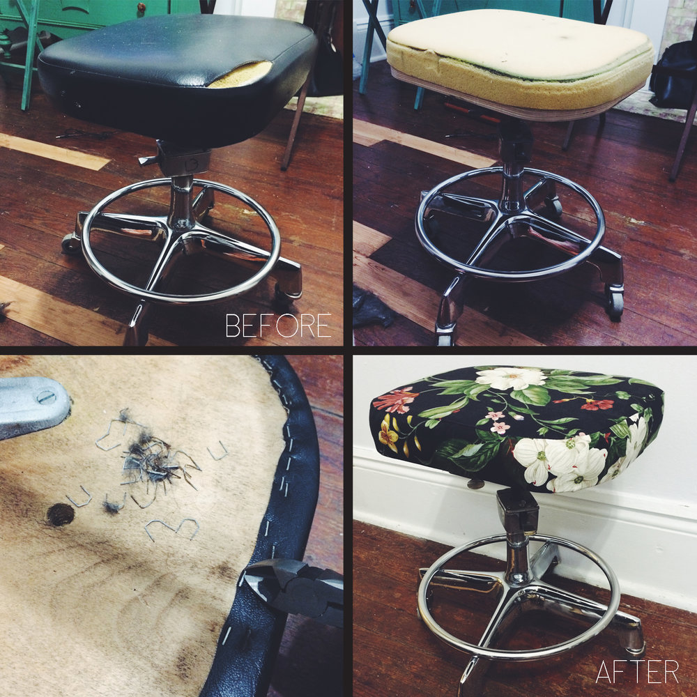 Stool upholstery