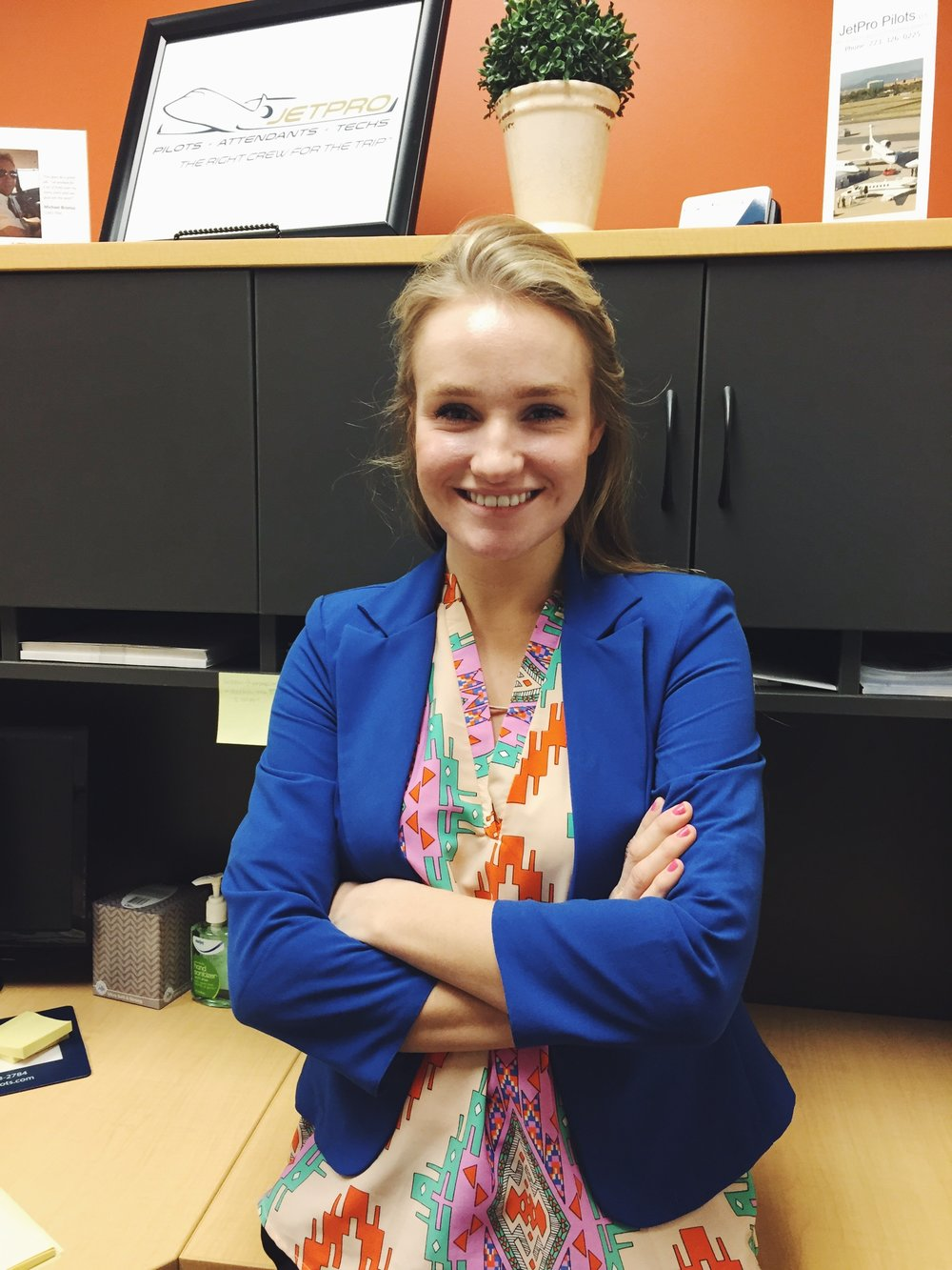 """""""In my internship experience, I have learned strategies in leadership from my supervisor, skills in graphic design, and marketing strategy and research. Working as a marketing intern of a startup business, I have learned much about marketing within the marketing department and how it can expand and grow the company. I have had the opportunity to develop a marketing plan, menu, and model for JetPro pilots as well as carry out other work such as conducting market research, and developing strategy. I have learned new things in Photoshop, the art of Hootsuite, Google Adwords, and many other tools that will be valuable for me to know in my marketing career. With freedom and guidance in this position, I feel much more aware and prepared for what will be required of me in my future to reach my goals of being a marketing director.    -Kelly Franck, Intern at JetPro Pilots"""