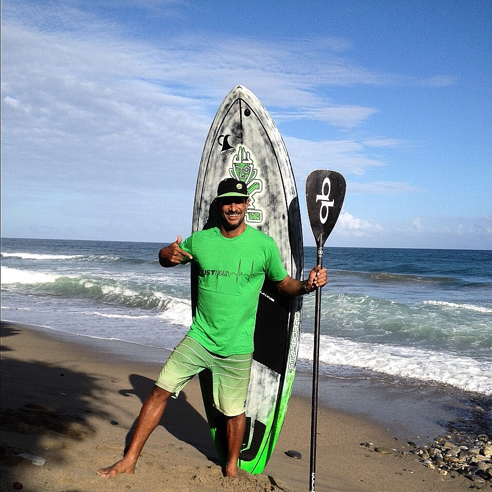 Gilbert Báez Venezuel. Instructor de SUP en Club de Surf Fuerte Tribu