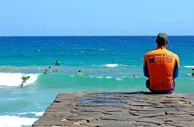 surf school for kids. Fuerteventura, canary islands