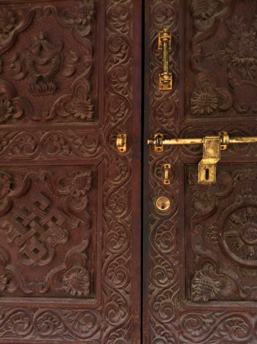 Temple Door, Katmandu Nepal