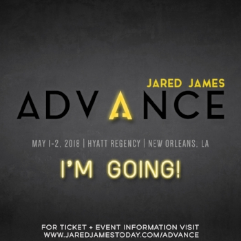 Update your profile photo or status on your social media platform of choice and tag Jared (@jaredjamestoday on Instagram, Jared James on Facebook) so he knows you're coming!