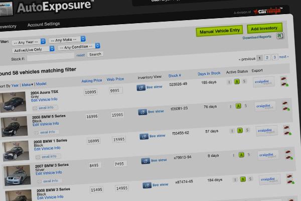 AutoExposure Inventory Manager