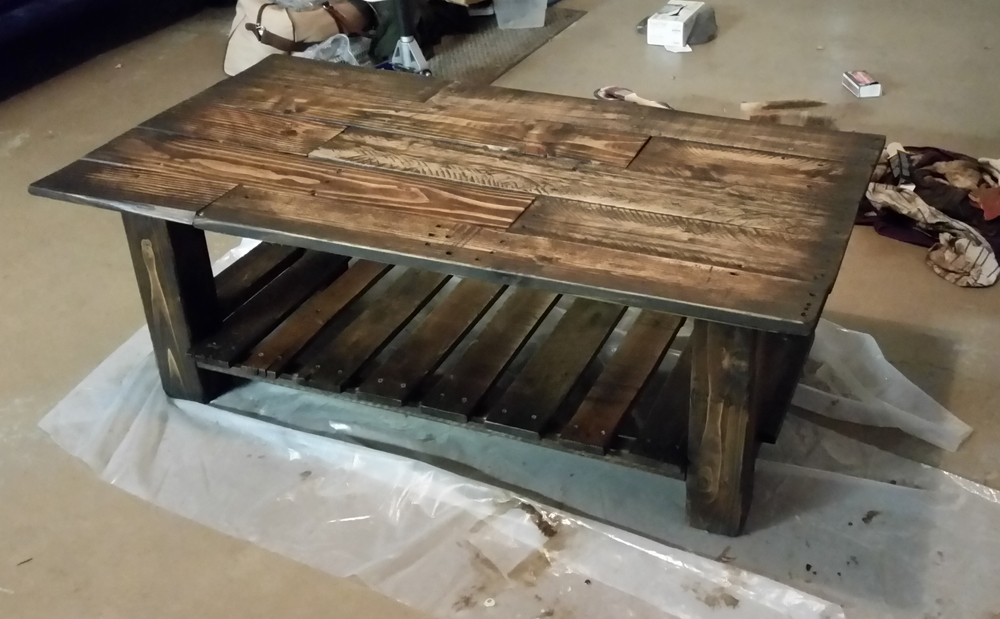 I Decided That The Stain Was A Bit Too Dark For My Taste So I Sanded It  Back Down And Applied A Minwax Early American Stain And Darkened The Edges  And Used ...