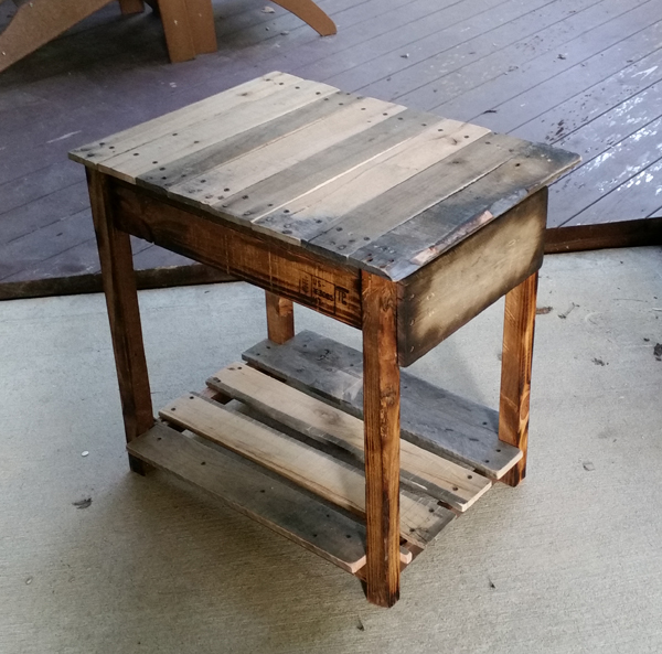 Pallet Wood End Table Got Wood Workshop