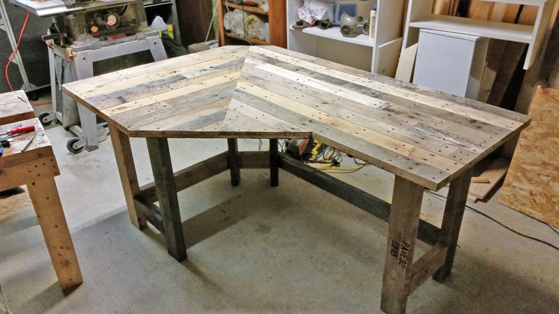 Pallet Wood Corner Desk Got Workshop