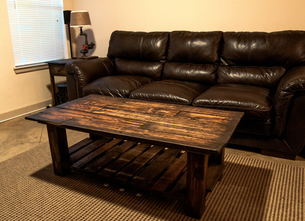 Pallet wood coffee table got wood workshop - How to make table out of wood pallets ...