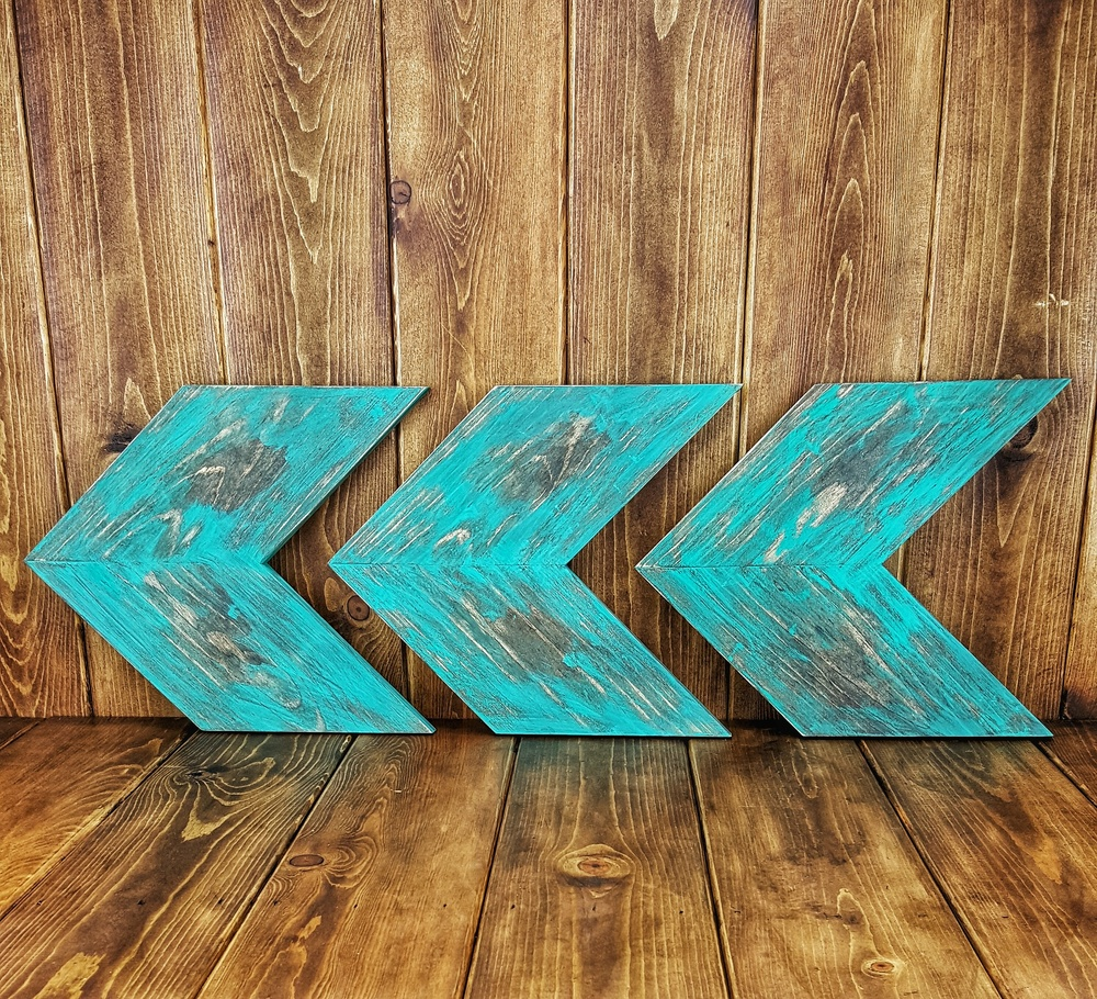 Turquoise Distressed Arrows