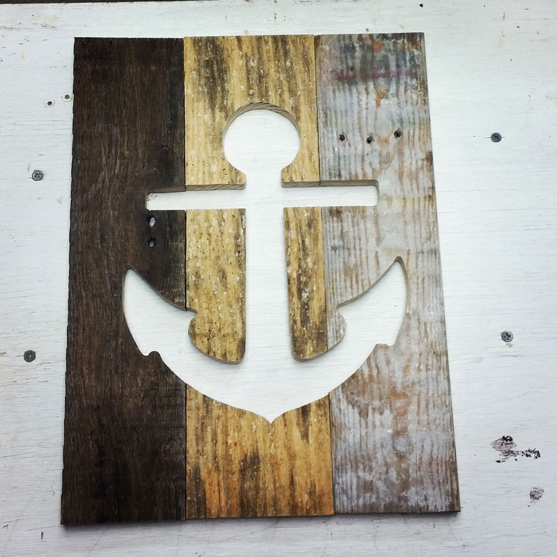 Pallet Wood Anchor Wall Art
