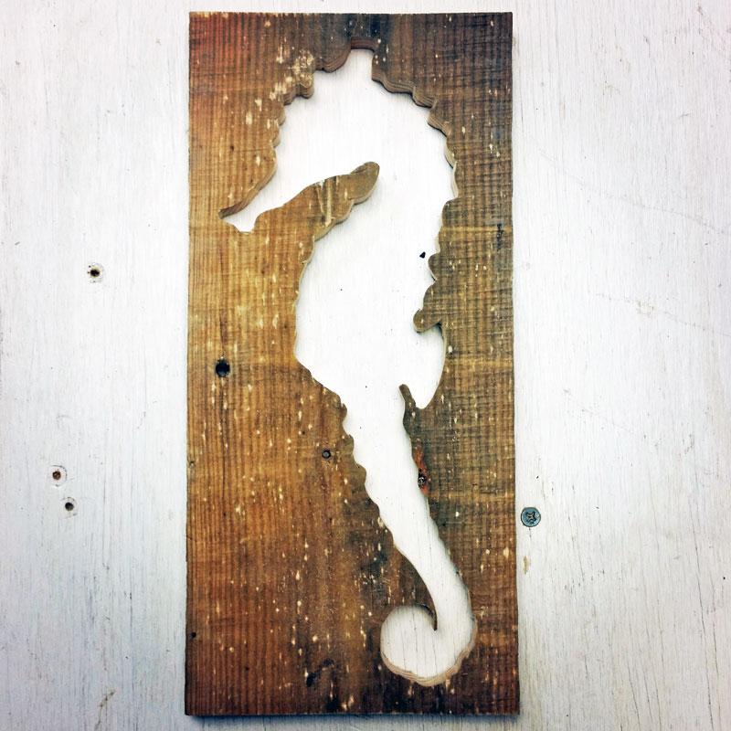 Pallet Wood Seahorse Wall Art