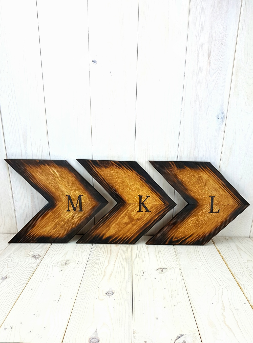 Personalized Woodburned Wheat Arrows