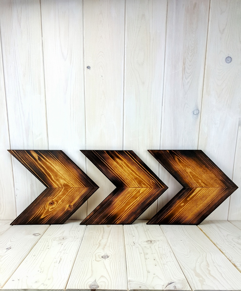 Woodburned Wheat Arrows
