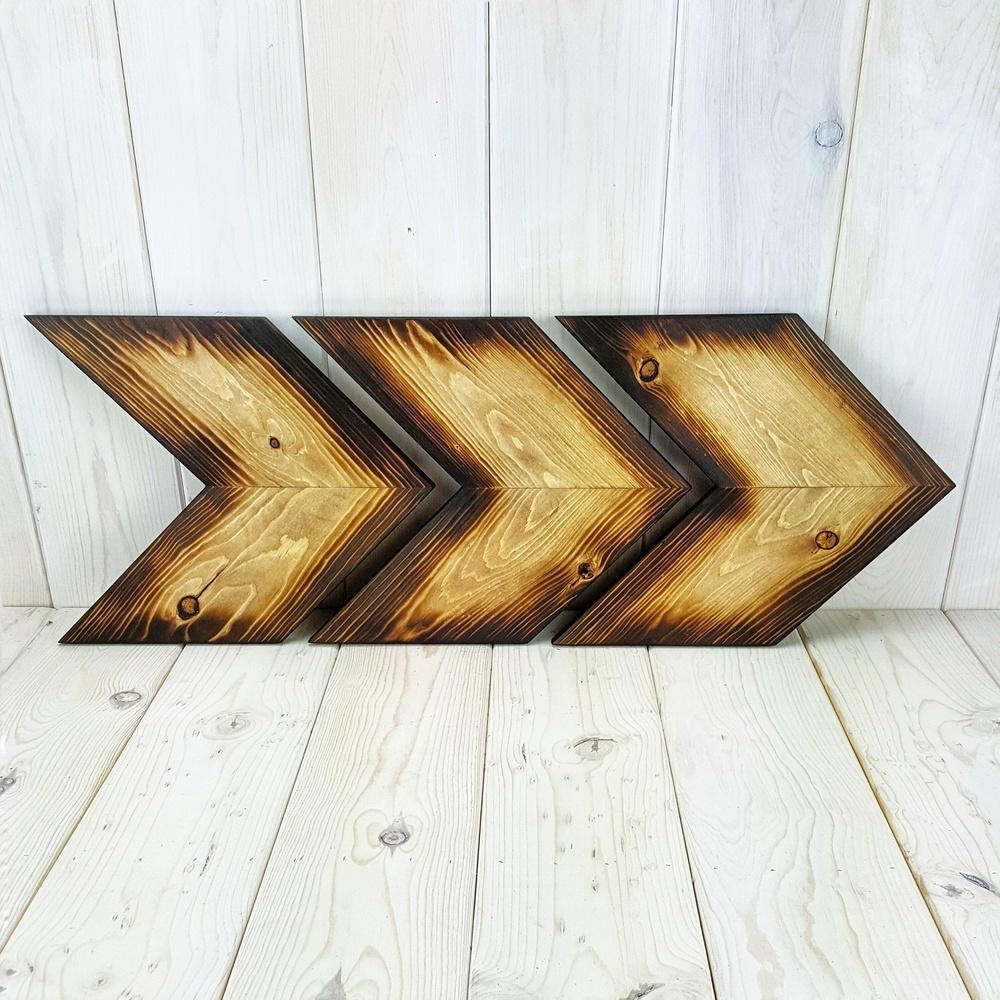 Woodburned Light Arrows