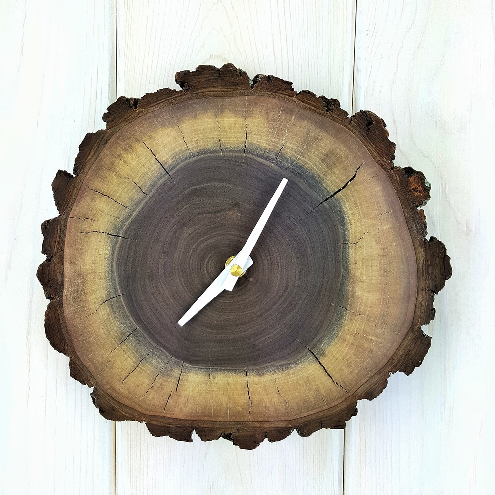 Live Edge Walnut Clock