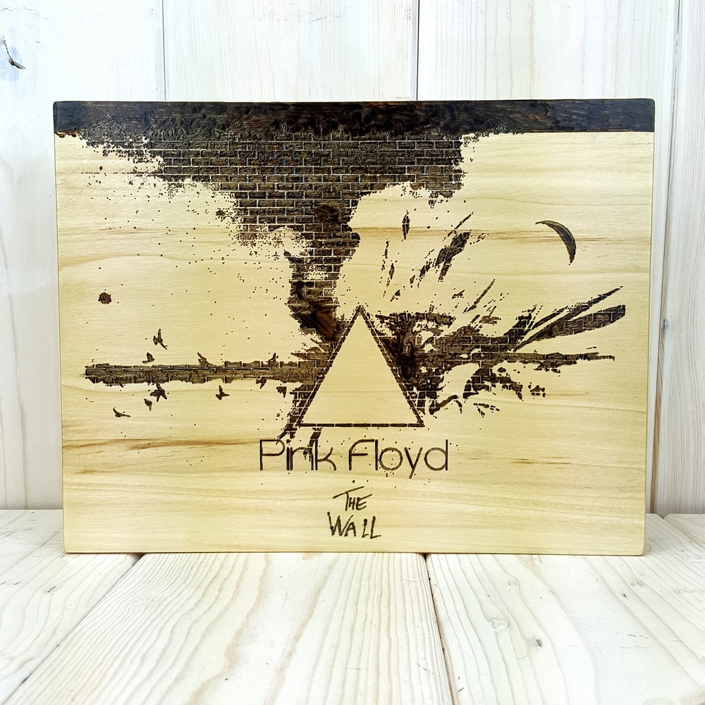 Pink Floyd Woodburned Art