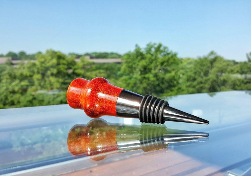 African Padauk Gunmetal Bottlestopper
