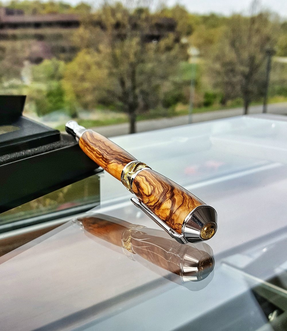 Olive Wood Rollerball Pen