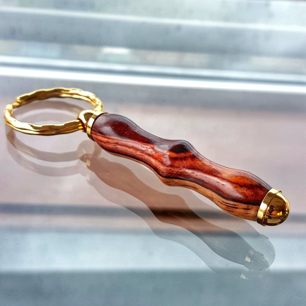 Cocobolo Gold Keychain