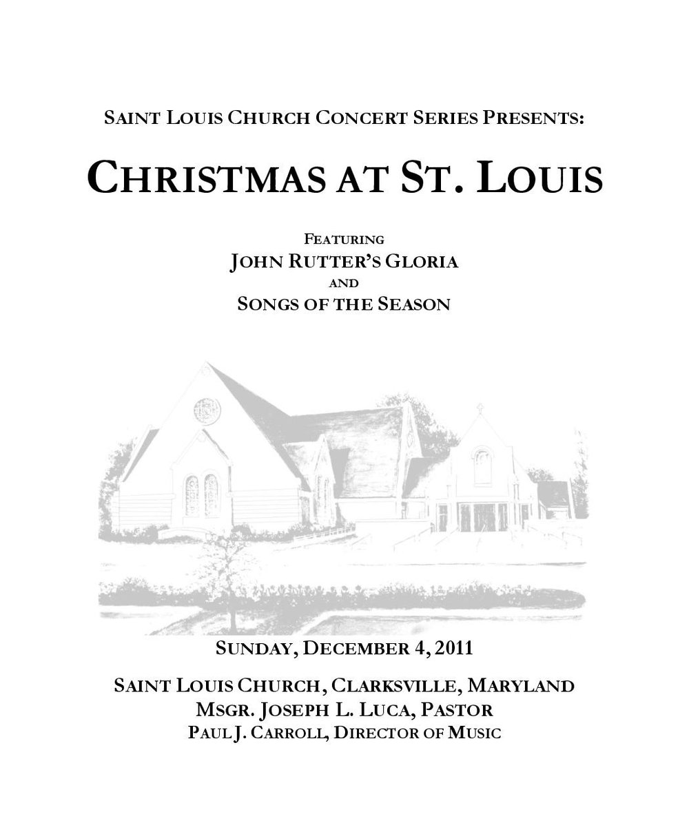 2011 christmas program st louis church concert series