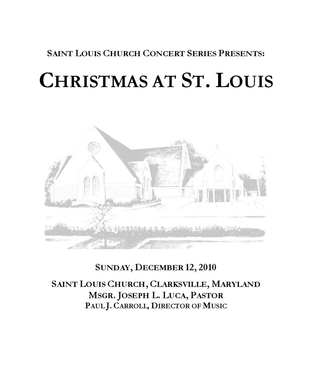 2010 christmas program st louis church concert series