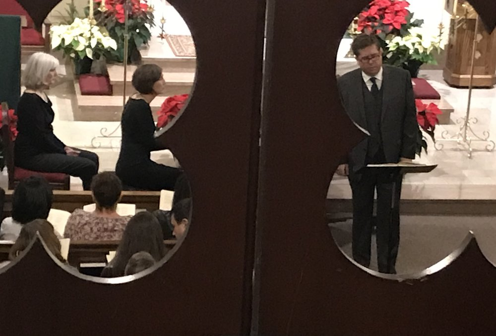Heather & Andrew, seen from the choir loft