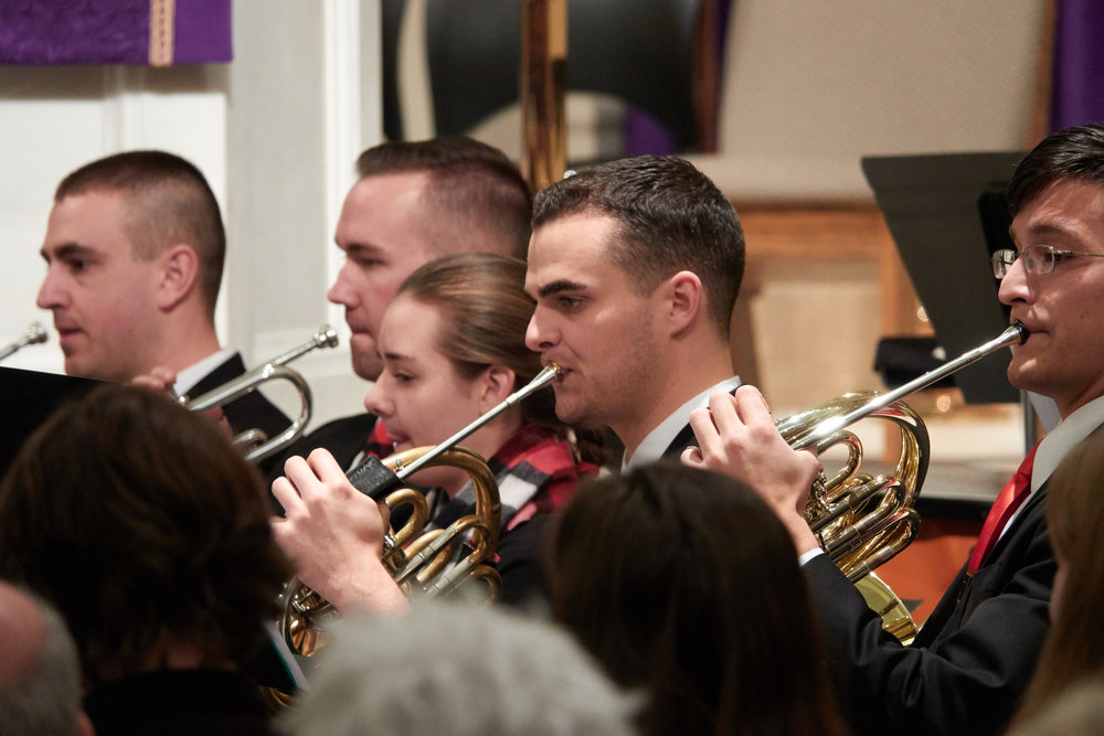 Jacqueline Hritzo, trumpet, playing her first Christmas concert