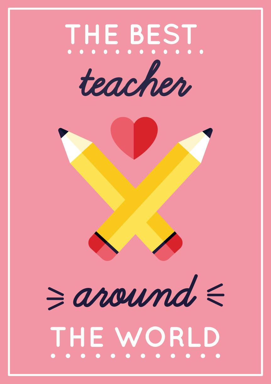 Thank you Teacher card Teacher Gift Shmuncki