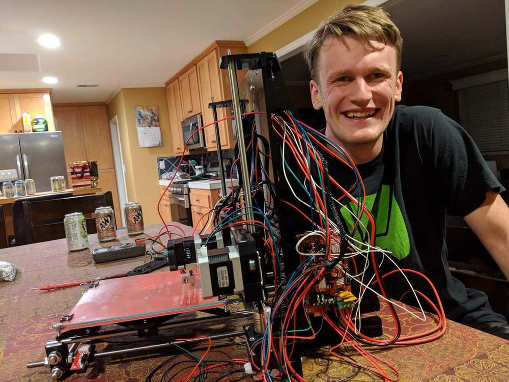 IAN AFTER BUILDING HIS OWN 3D PRINTER