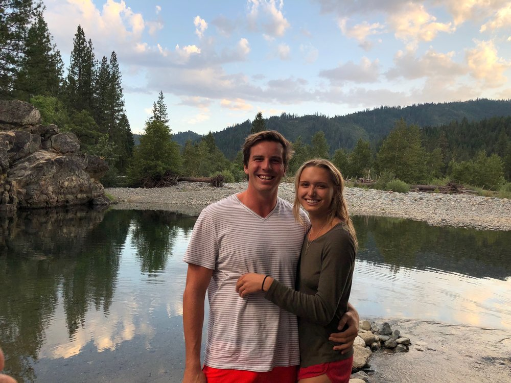 reed and his girlfriend natalie in trinity, ca during a summer trip