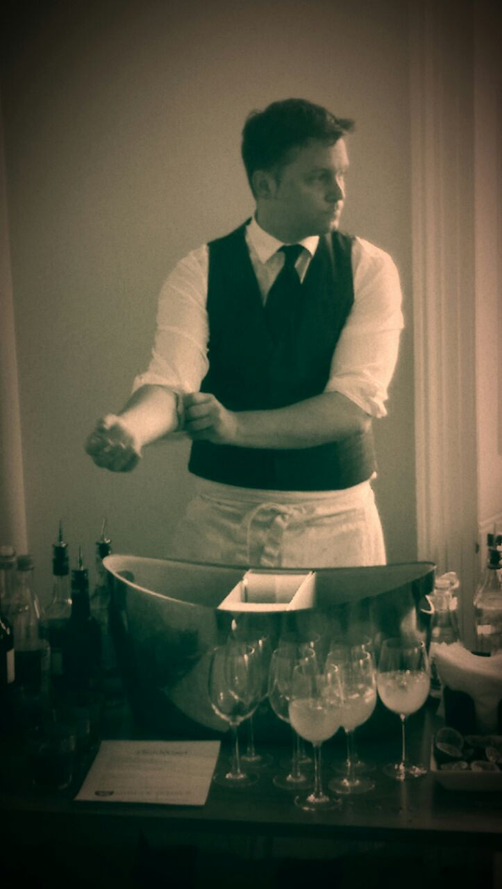 MTYBA's Tenancy Officer, event organiser, and head Mixologist, Michael Polak working at the bar (ba-boom tish)