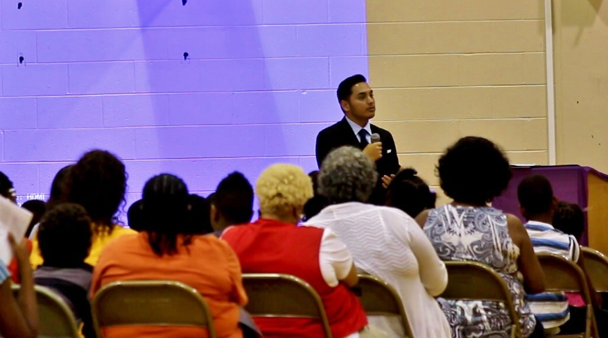 Speaking at MLK Academy in Benton Harbor, MI