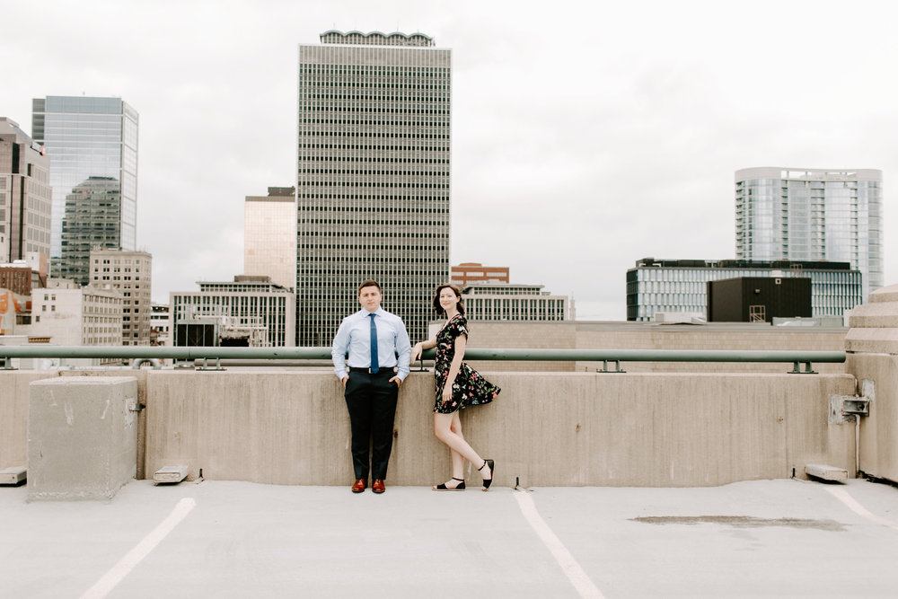 Emily and Davis Engagment Session Downtown Indianapolis Rooftop Emily Elyse Wehner Photography LLC-140.jpg
