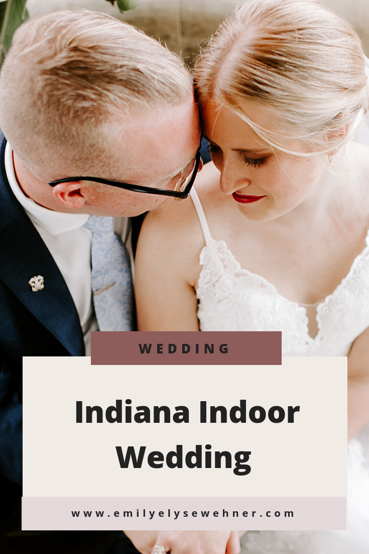 Indiana indoor wedding inspiration | Tinker House wedding in Indianapolis | Bride and Groom Portraits | Wedding details | Wedding Photography | Wedding inspiration by Emily Elyse Wehner Photography