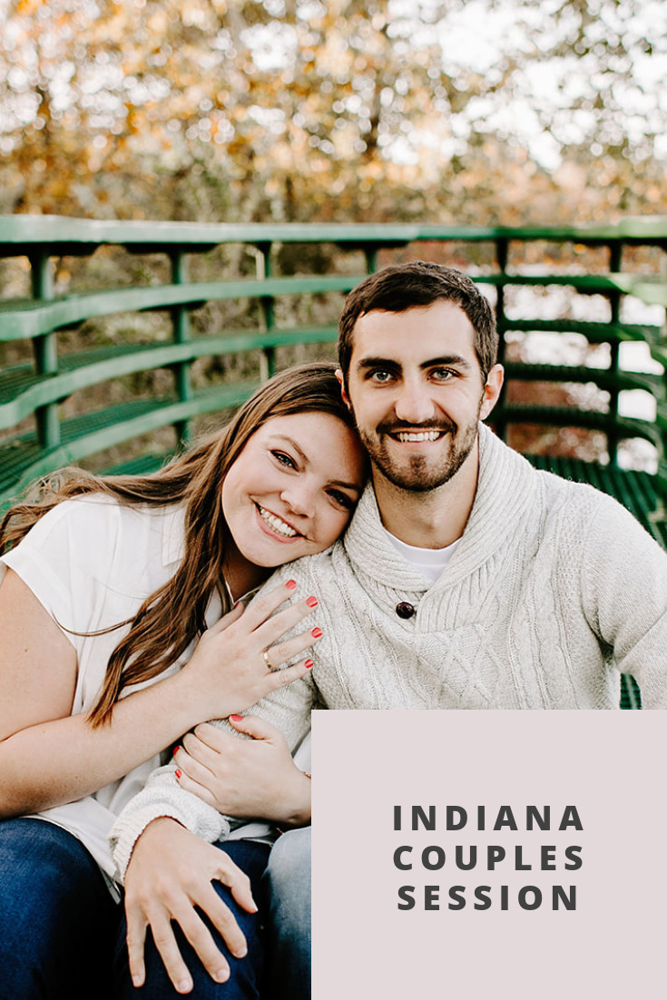 Wanting inspiration for your next couples session? Wondering what to wear and pose ideas. Click to browse through this blog by Emily Elyse Wehner, Indiana photographer, at 100 Acre Woods in Indianapolis, Indiana. #photography #couplessession #indianaphotographer