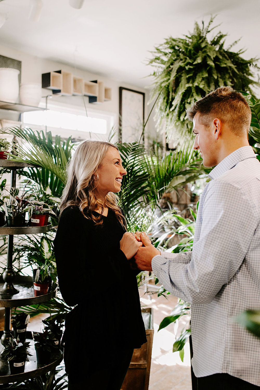 Lindy and JT Proposal at Allisonville Nursery in Indianapolis Indiana by Emily Elyse Wehner Photography LLC-25.jpg