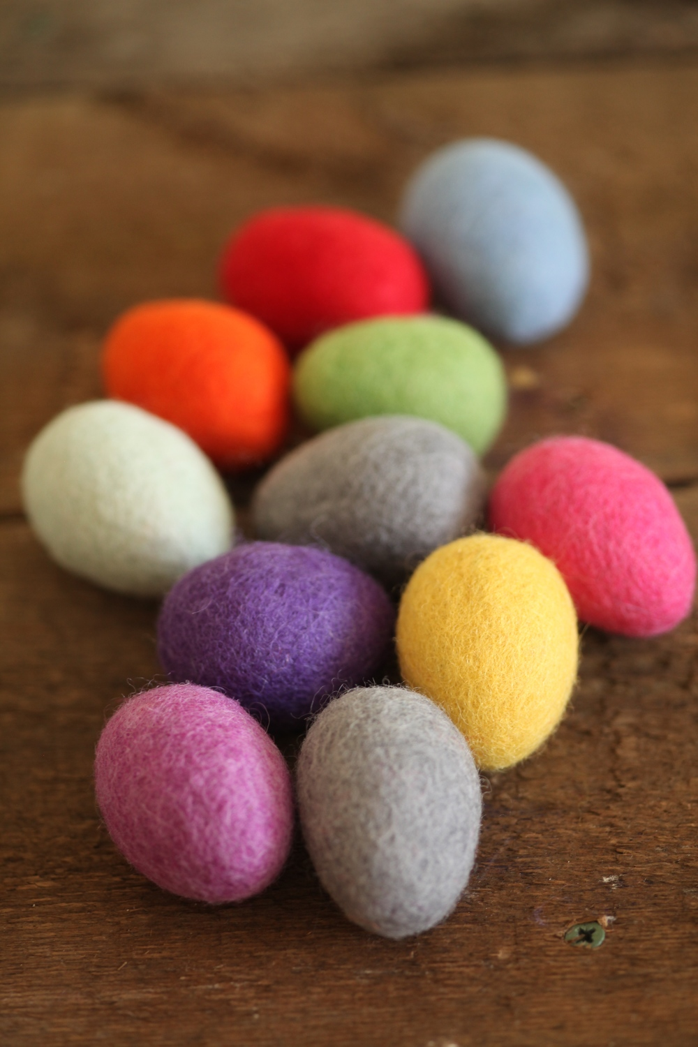 Taking a moment in time: felted eggs