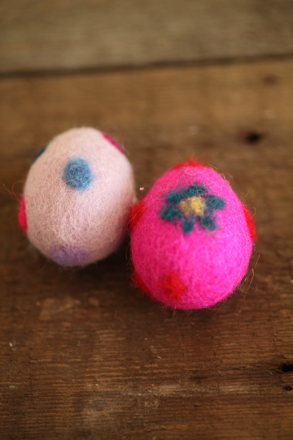 Taking a moment in time: felted Easter Eggs