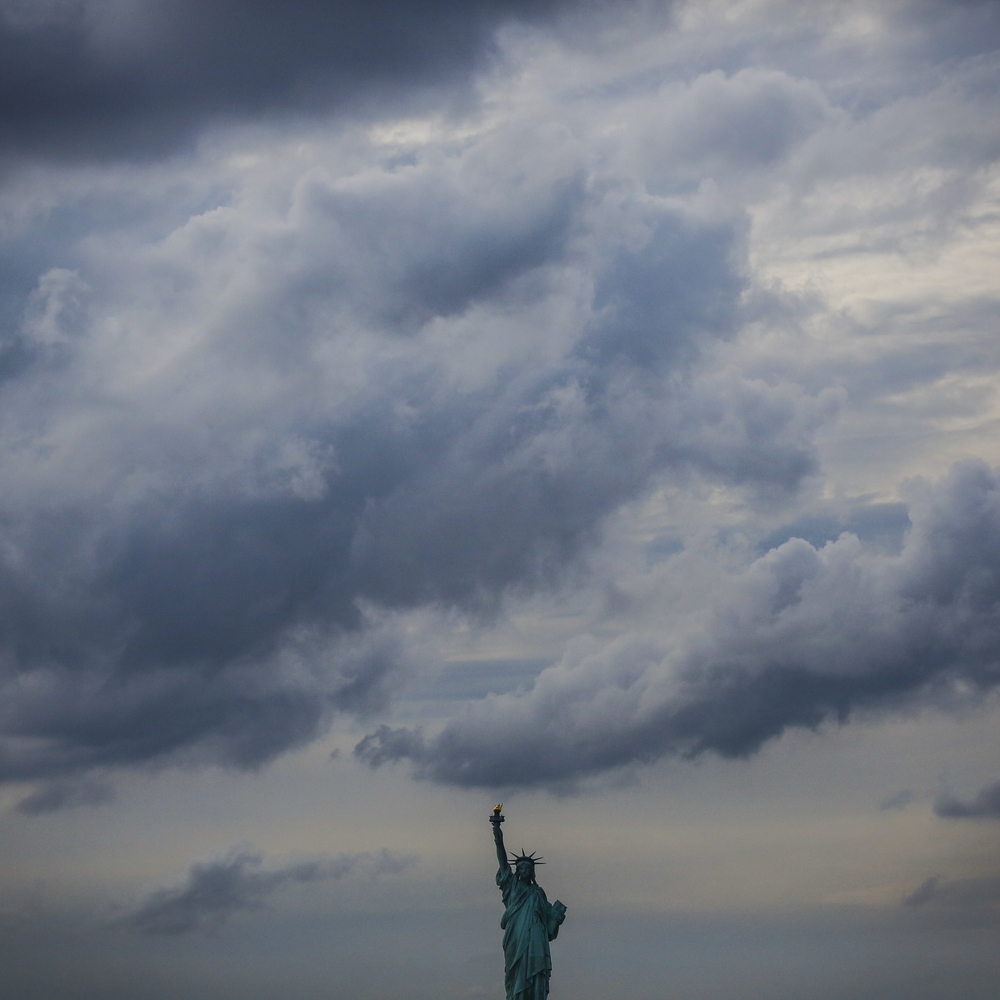The Statue of Liberty from the Staten Island Ferry in New York, N.Y. on Tuesday, July 2, 2013.